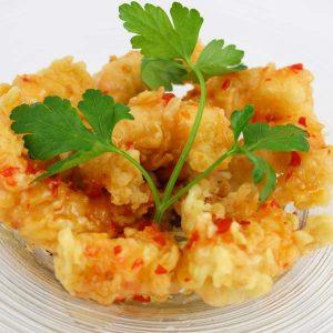 hisyou ristorante di sushi take away consegna a domicilio - tempura chilli rock shrimps